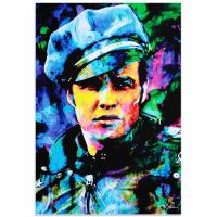"""Marlon Brando Whadda Ya Got"" 22x32 Contemporary Hollywood Pop Art, Ltd. Ed. Giclee on Glossy Acrylic by Mark Lewis at PristineAuction.com"