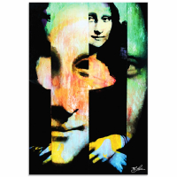 """""""Mona Lisa Noble Purity"""" 22x32 Contemporary Iconic Pop Art, Ltd. Ed. Giclee on Glossy Acrylic by Mark Lewis at PristineAuction.com"""