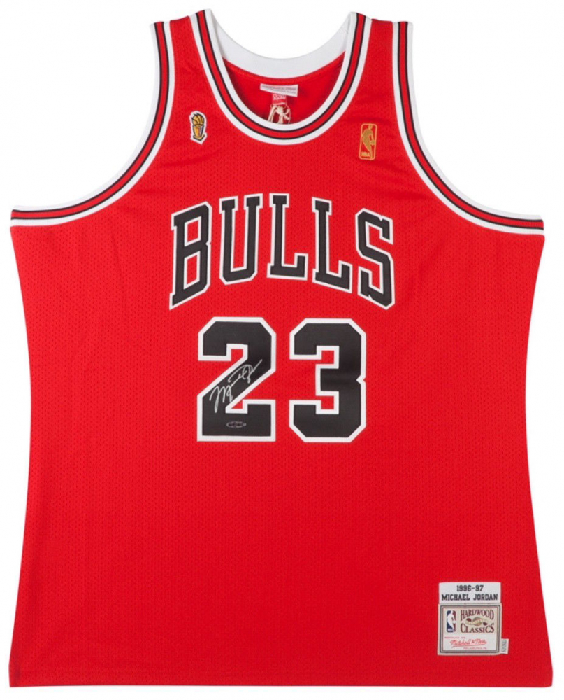 Michael Jordan Signed 1997 Bulls NBA Finals Jersey (UDA COA) at PristineAuction.com