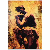 """Rodin Clarified Thought"" 22x32 Contemporary Iconic Pop Art, Ltd. Ed. Giclee on Metal by Mark Lewis at PristineAuction.com"