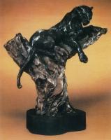"""LeRoy Neiman """"Vigilant"""" 1988 LE Bronze Sculpture #301/350"""