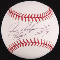 "Ivan Rodriguez Signed OML Baseball Inscribed ""Pudge"" (JSA COA)"