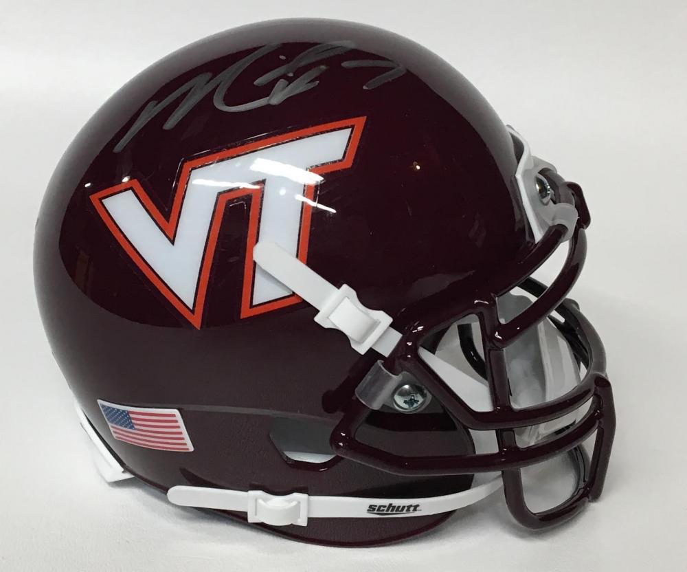 47499373fda Michael Vick Signed Virginia Tech Hokies Mini-Helmet (JSA COA)