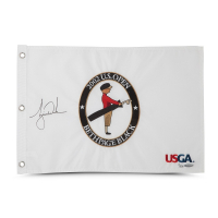 Tiger Woods Signed Limited Edition 2002 U.S. Open Pin Flag (UDA COA)