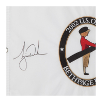 Tiger Woods Signed Limited Edition 2002 U.S. Open Pin Flag (UDA COA) at PristineAuction.com