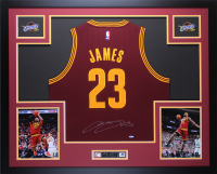 LeBron James Signed Cavaliers 35x43 Custom Framed Jersey (UDA COA) at PristineAuction.com