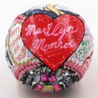 "Charles Fazzino Signed ""Marilyn Monroe"" Hand-Painted Baseball with Sowrovski Crystals (Fazzino LOA)"