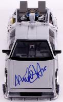 """Michael J. Fox Signed """"Back to the Future II"""" DeLorean 1:15th Scale Model Car (JSA COA)"""