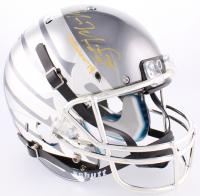"Marcus Mariota Signed Oregon Ducks Custom Chrome Full-Size Helmet Inscribed ""Heisman '14"" (Radtke COA & Mariota Hologram) at PristineAuction.com"