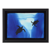 "Wyland Signed ""Two Turtles"" 20x28 Custom Framed Original Watercolor Painting at PristineAuction.com"
