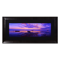 "Peter Lik Signed ""Pacific Reflections - Molokai, Hawaii"" Limited Edition 36x76 Custom Framed Photograph on Archival Grade Photographic Paper #206/950"