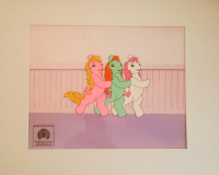 """""""My Little Pony"""" 1992 Original Custom Matted 11x14 Hand-Painted Animation Production Cel (My Little Pony COA)"""