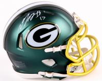 Davante Adams Signed Packers Blaze Mini Helmet (JSA COA) at PristineAuction.com