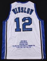 Justise Winslow Signed Duke Blue Devils Career Highlight Stat Jersey (PSA COA)