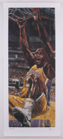 Opie Otterstad Signed Shaquille O'Neal Lakers 17x40 AP Lithograph at PristineAuction.com