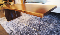 """Gravity Coffee Table"" 48x19x16 Original Wood Art by Adam Schwoeppe"