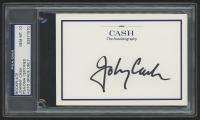 "Johnny Cash Signed ""Cash The Autobiography"" Bookplate (PSA Encapsulated)"
