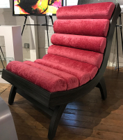 """Velvet Lounger"" 31x41x38 Original Wood Furniture by Adam Schwoeppe"