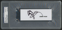 Jimmy Page Signed 1.75x5 Signature Cut (PSA Encapsulated)