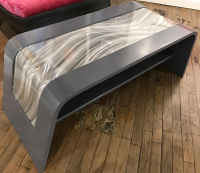 """Wave Coffee Table"" 50x19x20 Original Wood Table by Adam Schwoeppe"
