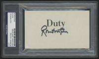 Robert Gates Signed 3x5 Cut (PSA Encapsulated)