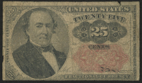 1874 United States 25¢ Twenty-Five Cents Fractional Bank Note at PristineAuction.com