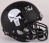 "Stan Lee Signed Custom Matte Black ""Punisher"" Full-Size Helmet (Lee Hologram)"