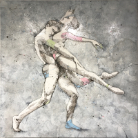 """Ballet 5"" 47x47x2 Original Ballerina Painting by Jimmi Toro at PristineAuction.com"