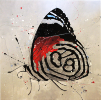 """""""Butterfly 2"""" 24x24x2 Original Butterfly Painting by Jimmi Toro"""