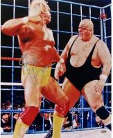 Hulk Hogan Signed 16x20 Photo with King Kong Bundy (Steiner COA)