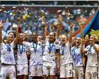 "Christie Rampone, Kelly O'Hara, Julie Johnston & Carli Lloyd Signed Team USA ""2015 Women's World Cup Final Champions"" 16x20 Photo (Steiner COA)"