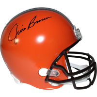 Jim Brown Signed Browns Full-Size Helmet (Steiner COA & Fanatics Hologram)