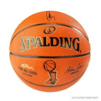 Stephen Curry Signed Spalding NBA Finals Logo Basketball (Steiner COA)