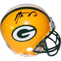 Aaron Rodgers Signed Packers Mini Helmet (Steiner COA)