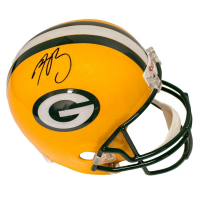 Aaron Rodgers Signed Packers Full-Size Helmet (Steiner COA)