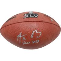"Aaron Rodgers Signed Super Bowl XLV Logo Football Inscribed ""XLV MVP"" (Steiner COA)"