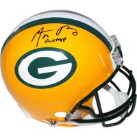 "Aaron Rodgers Signed Packers Full Size Authentic Proline Helmet Inscribed ""XLV MVP"" (Steiner COA)"