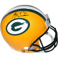 """Aaron Rodgers Signed Packers Full Size Authentic Proline Helmet Inscribed """" XLV Champ"""" (Steiner COA)"""