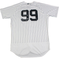 """Aaron Judge Signed LE Yankees Jersey Inscribed """"All Rise, Judgement Day"""" (Fanatics)"""