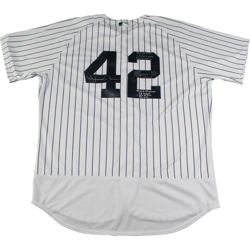 Mariano Rivera Signed New York Yankees Authentic Jersey Inscribed With 'World Series Stats' (Steiner Hologram) at PristineAuction.com