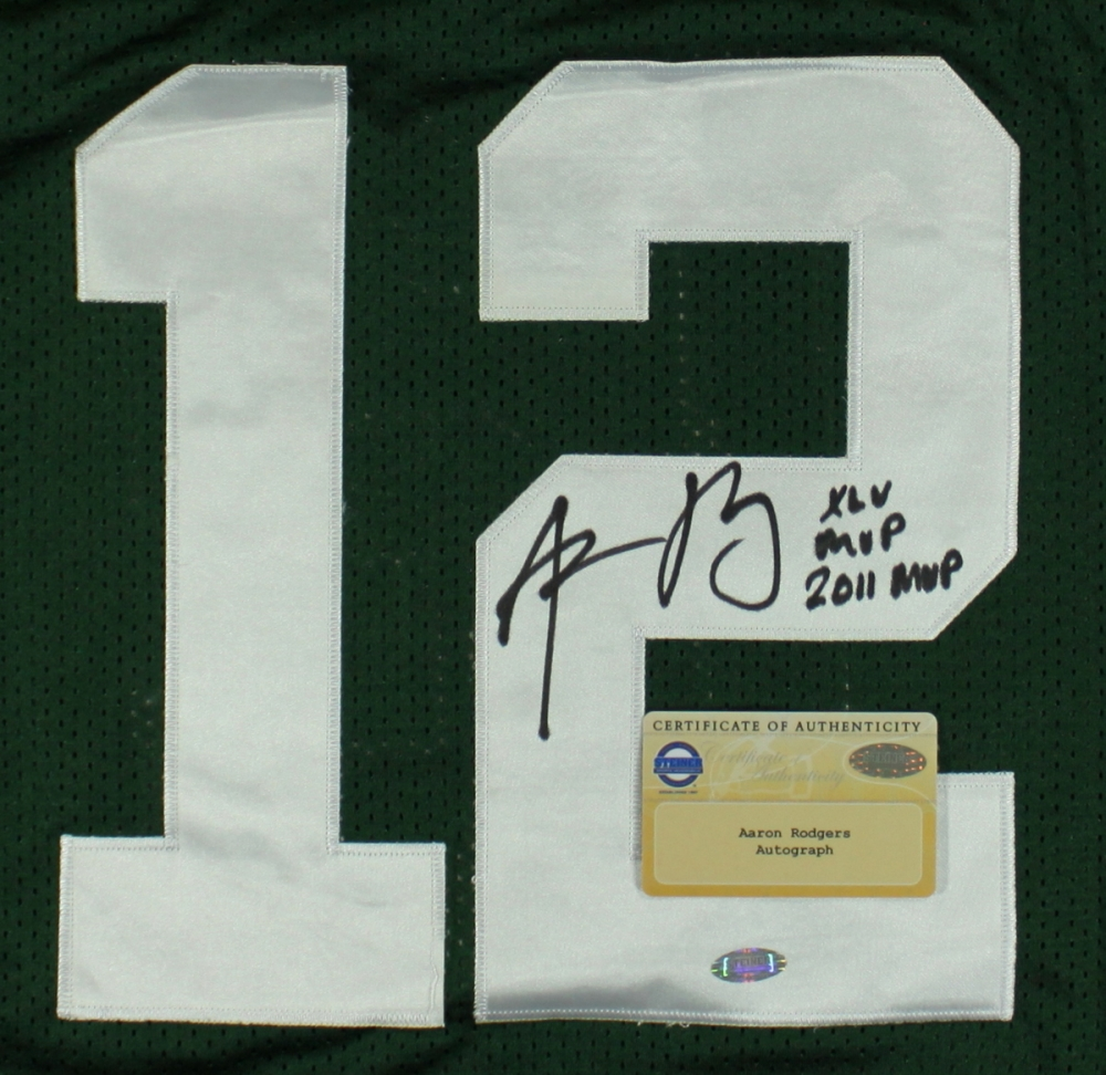 82129379251 Aaron Rodgers Signed Packers Jersey Inscribed