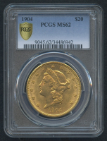1904 $20 Liberty Head Double Eagle Gold Coin (PCGS MS 62)