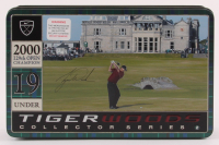 Tiger Woods 2000 129th British Open Champion 19 Under Collector Series Golf Balls & Tin at PristineAuction.com