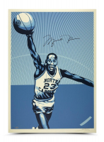 Michael Jordan Signed UNC Tarheels Limited Edition 24x36 Print (UDA COA)