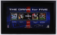 "Tom Brady Signed Patriots ""The Drive for Five"" 18"" x 30"" Custom Framed Photo Display (Steiner COA & Tristar Hologram)"