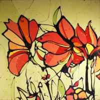 """""""Alyzerine"""" 47x47x2 Original Flower Painting by Jimmi Toro"""
