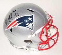 Rob Gronkowski Signed Patriots Full-Size Speed Helmet (Beckett COA)