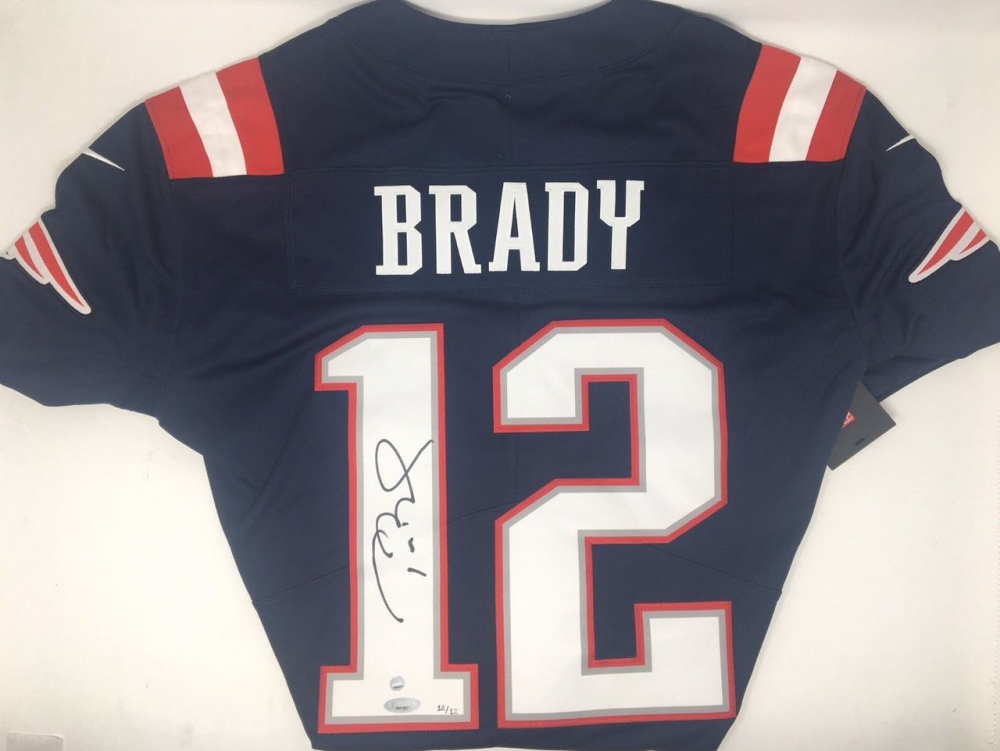 Tom Brady Signed Limited Edition Patriots Nike Jersey (TriStar ...