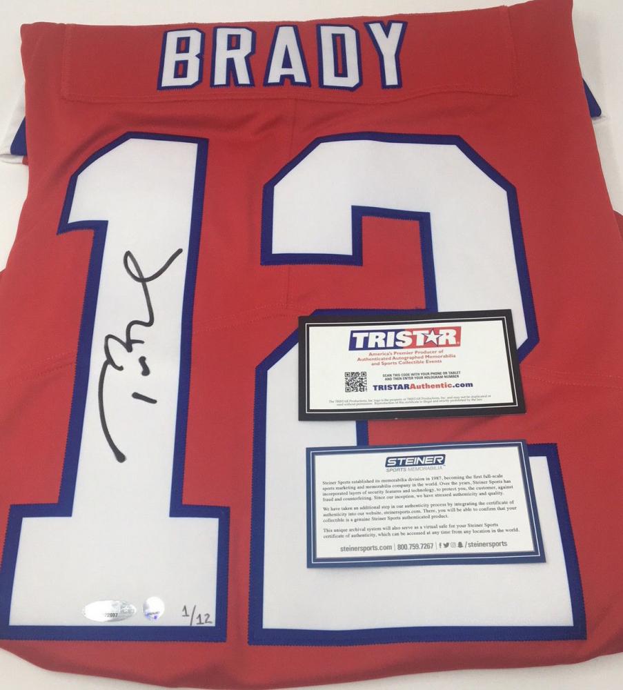 tom brady autographed jersey tristar