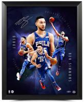 "Ben Simmons Signed Philadelphia 76ers ""Inauguration"" 16x20 Custom Framed Photo (UDA COA) at PristineAuction.com"